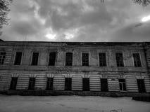 Vieux b?timent architectural Un b?timent r?sidentiel antique dans la ville photos stock