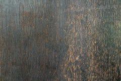 Vieux Ba extérieur en bois antique noble parfait de décoration de brun foncé Image stock