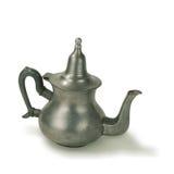 Vieux bac de thé de touareg d'étain images stock