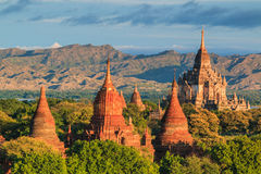 Vieux Bagan dans Bagan-Nyaung U, Myanmar image stock