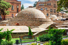 Vieux bains de soufre à Tbilisi, la Géorgie Image libre de droits