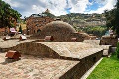 Vieux bains de soufre à Tbilisi, la Géorgie Photo libre de droits