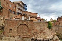 Vieux bains de soufre à Tbilisi, la Géorgie Photos stock