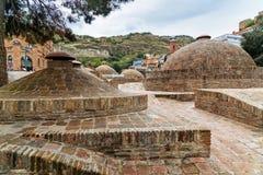 Vieux bains de soufre à Tbilisi, la Géorgie Photos libres de droits