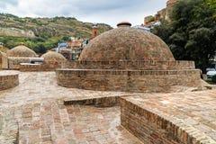 Vieux bains de soufre à Tbilisi, la Géorgie Photographie stock