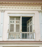 Vieux balcon du 19ème siècle Image libre de droits
