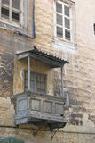 Vieux balcon maltais Images libres de droits