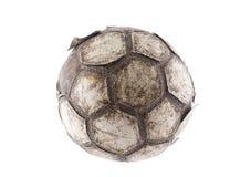 Vieux ballon de football Photographie stock