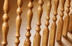 Vieux balustres en bois Photographie stock