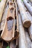 Vieux bambou et bambou de bâton Photos stock