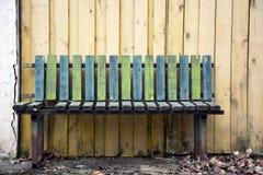 Vieux banc en bois Photographie stock libre de droits