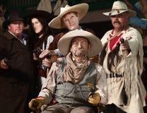 Vieux bandit occidental avec la troupe Photos libres de droits