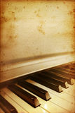 Vieux bar de piano Images libres de droits