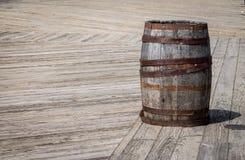 Vieux baril Photographie stock