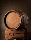 Vieux baril brun Image libre de droits