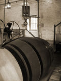 Vieux baril de vin Photographie stock libre de droits