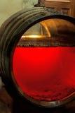 Vieux baril de xérès avec le glassfront Image libre de droits