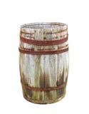 Vieux baril en bois Photo stock