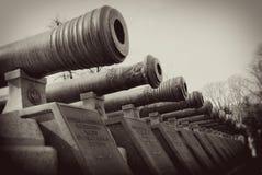 Vieux barils de canon. Moscou Kremlin. Images libres de droits