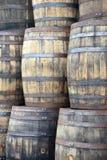 Vieux barils en bois grunges Photographie stock libre de droits