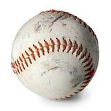 Vieux base-ball d'isolement photos stock