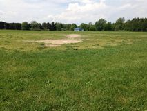 Vieux base-ball du Michigan de champ image libre de droits