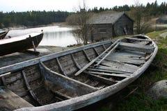 Vieux bateau à rames Image stock