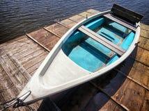 Vieux bateau à rames Photographie stock