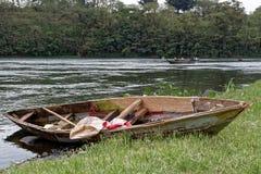 Vieux bateau à rames sur Nile River Photographie stock libre de droits