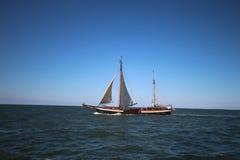 Vieux bateau à voile aux Pays-Bas Images libres de droits