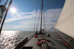 Vieux bateau à voile aux Pays-Bas Photo libre de droits