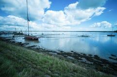 Vieux bateau au bassin de Heybridge Images libres de droits