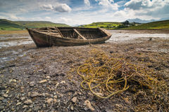 Vieux bateau d'épave Photographie stock libre de droits
