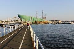 Vieux bateau d'Amsterdam Image stock
