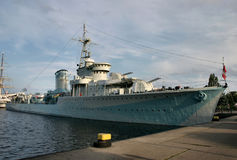 Vieux bateau de bataille Photographie stock libre de droits