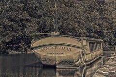 Vieux bateau de canal en Ohio Photo stock