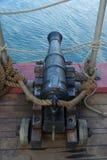 vieux bateau de canon Photo stock