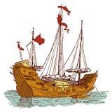 Vieux bateau de Chinois Images stock