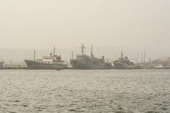 Vieux bateau de guerre bulgare photos libres de droits