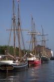Vieux bateau de navigation à Copenhague Image libre de droits
