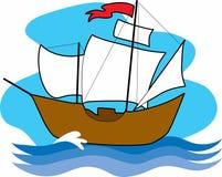 Vieux bateau de navigation Photographie stock