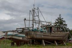 Vieux bateau de pêche Photographie stock