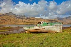 Vieux bateau de Pennyghael Photo stock