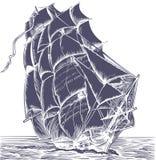Vieux bateau de voile illustration stock
