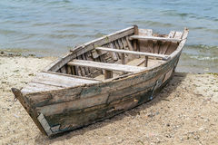 Vieux bateau en bois Image stock
