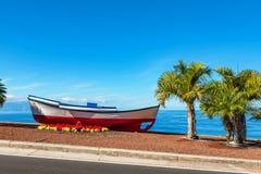 Vieux bateau Puerto De Santiago, Ténérife, Espagne Photos stock