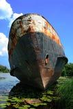 Vieux bateau rouillé Images libres de droits