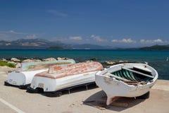 Vieux bateau sur la Mer Adriatique Croatie photo libre de droits