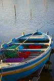 Vieux bateau sur le lac Images libres de droits