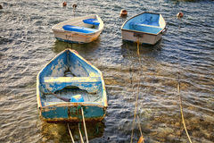 Vieux bateaux à rames Photo libre de droits